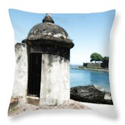 Guard Post Castillo San Felipe Del Morro San Juan Puerto Rico Diffuse Glow Throw Pillow