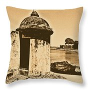 Guard Post Castillo San Felipe Del Morro San Juan Puerto Rico Rustic Throw Pillow