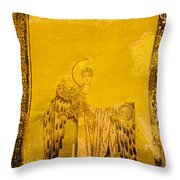 Guardian Angel Byzantine Art Throw Pillow