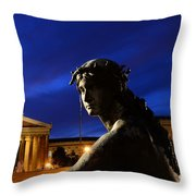 Guardian Angel Of Art Throw Pillow by Paul Ward