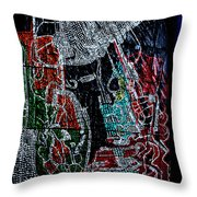 Guardian Knight  Of The Orient Throw Pillow