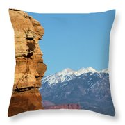 Guardian Of Arches Throw Pillow