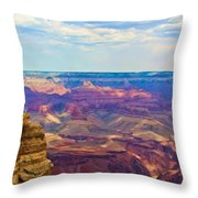 Guardians Of The Canyon Throw Pillow