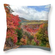 Guardsman Pass To Midway In The Fall - Utah Throw Pillow