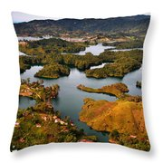 Guatape Throw Pillow