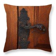Guatemala Door Decor 5 Throw Pillow