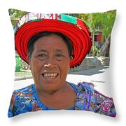 Guatemalan Village Woman Throw Pillow