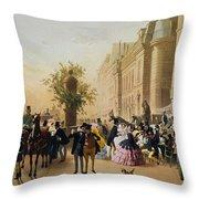 Guerard: Cafe Tortoni, 1856 Throw Pillow