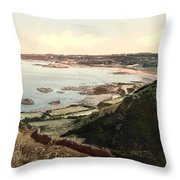 Guernsey - Rocquaine Bay - Channel Islands - England Throw Pillow