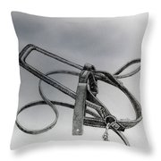 Guide Dog Harness Throw Pillow