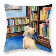 Guide Dog Training Throw Pillow