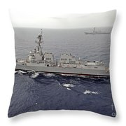 Guided Missile Destroyers Uss Dewey Throw Pillow