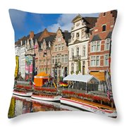 Guild Houses Throw Pillow