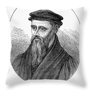 Guillaume Farel (1489-1565) Throw Pillow