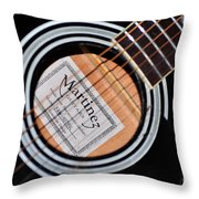 Guitar Abstract 1 Throw Pillow