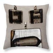 Guitar Glass Tile Set Throw Pillow