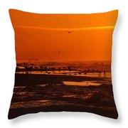 Gulf Coast Sunday Morning Throw Pillow