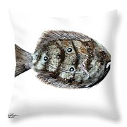 Gulf Flounder Throw Pillow