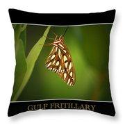 Gulf Fritillary 2 Throw Pillow