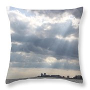 Gulf Of Mexico - Gulf Sunshine Throw Pillow