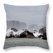Gulf Of Mexico - More Waves Throw Pillow
