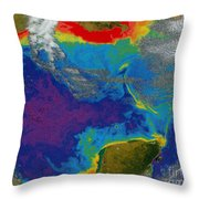 Gulf Of Mexico Dead Zone Throw Pillow by Science Source