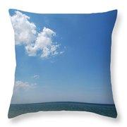Gulf Sky Throw Pillow