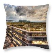 Gulf State Park Boardwalk Corner Throw Pillow