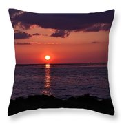 Gulfview Sunset Throw Pillow