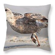 Gull Taking Off Throw Pillow