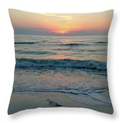 Gulls At Sunset On The Gulf Throw Pillow