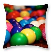 Gum Ball Gang Breakout Throw Pillow