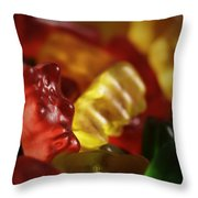 Gummi Bears Throw Pillow by Rick Berk