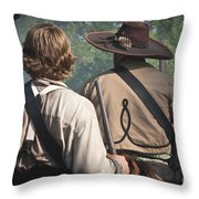 Guns By Our Side We Ride Throw Pillow