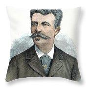 Guy De Maupassant Throw Pillow