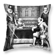 Guy Fawkes, English Soldier Throw Pillow by Photo Researchers