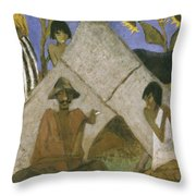 Gypsy Encampment Throw Pillow by Otto Muller or Mueller