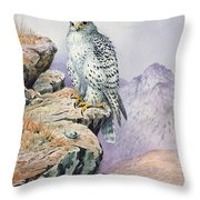 Gyrfalcon Throw Pillow