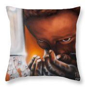 H2ope Run For Water Throw Pillow