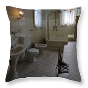 Haas Lilienthal House Victorian Bath - San Francisco Throw Pillow by Daniel Hagerman