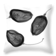 Habanero Peppers Throw Pillow