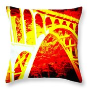 Haceta Head Bridge In Abstract Throw Pillow