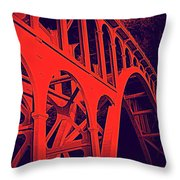 Haceta Head Bridge Throw Pillow