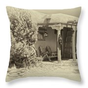 Hacienda Antique Plate Throw Pillow
