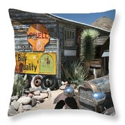 Hackberry Signs   Arizona Route 66 Throw Pillow