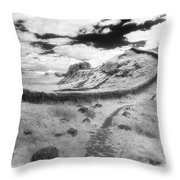 Hadrians Wall Throw Pillow by Simon Marsden