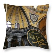Hagia Sophia Interiour  Throw Pillow
