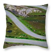 Hairpin Bends In The, Healy Pass, Beara Throw Pillow