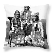 Hairy Faced Burmese Family Throw Pillow