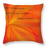 Halcyon Haiku Throw Pillow